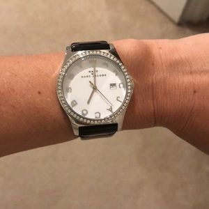 Marc Jacobs black patent leather watch